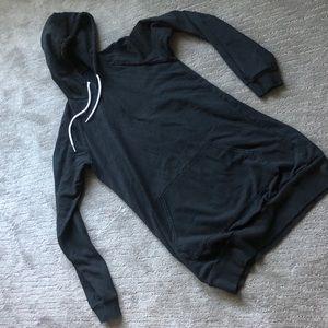 American apparel California fleece black tunic.